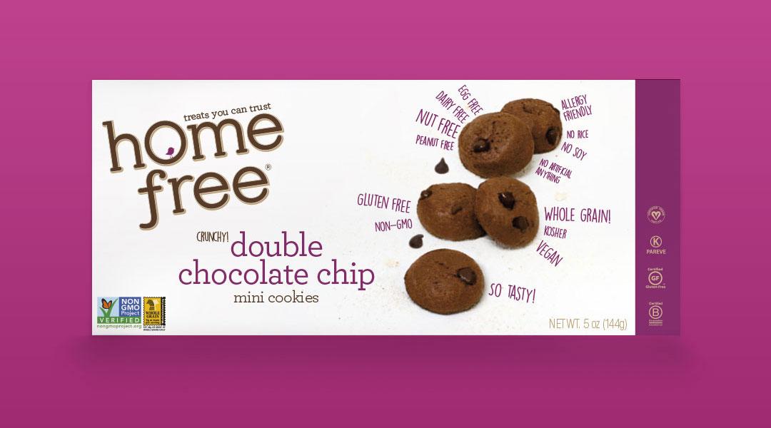 double chocolate chip mini cookies