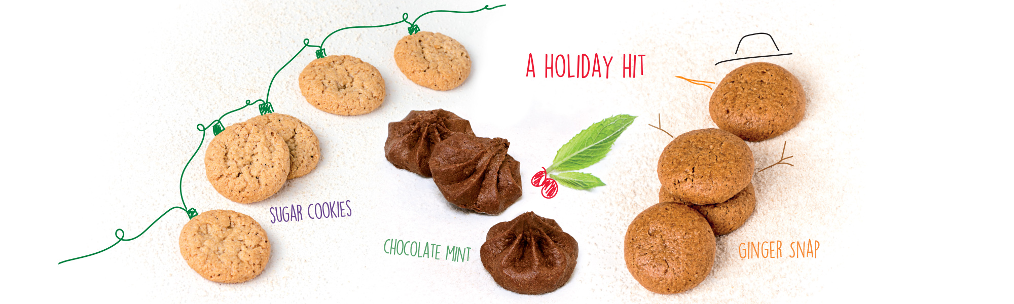 NEW! ginger snap mini cookies