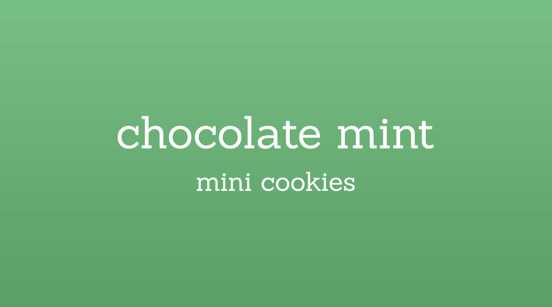chocolate-mint-mini-cookies