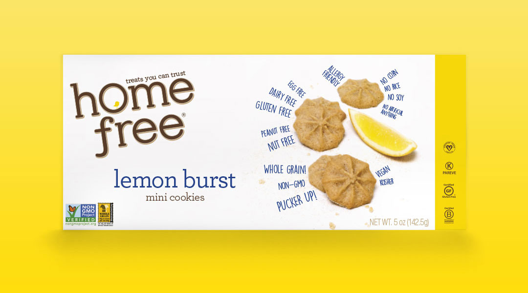 lemon burst mini cookies